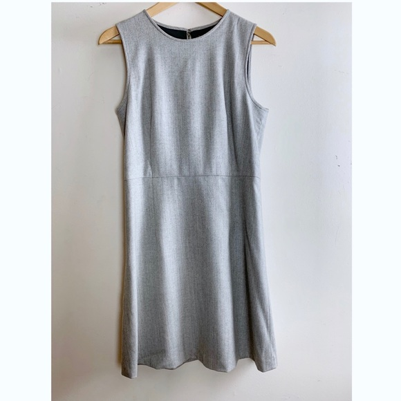 a89b40f23e Theory Dresses   Lt Grey Wool Blend Herringbone Shift Dress   Poshmark